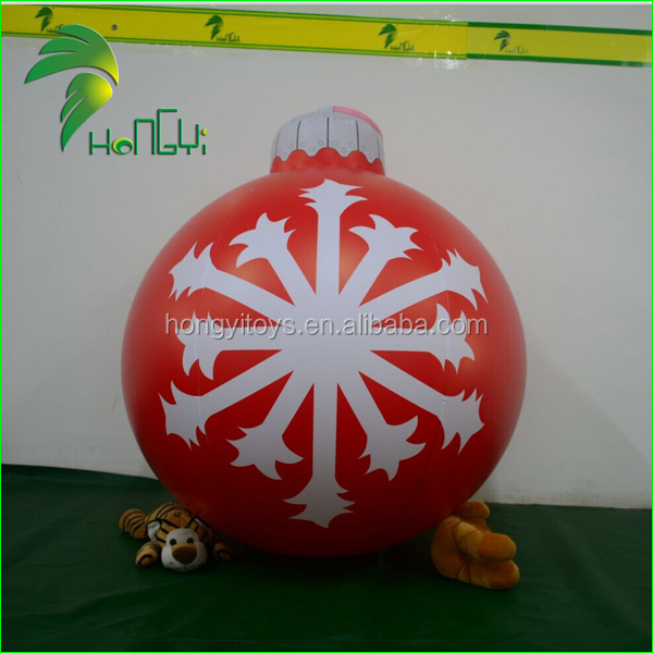 Wholesale Christmas Hnaging Ball Inflatables / Small PVC Inflatable Christmas Sparkle Ball For Decoration