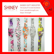 Pattern Printing set led watches touch screen watches