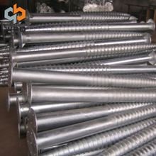 China Alibaba steel plate ground screw anchors screw pile