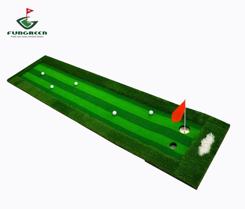 Golf Putter Trainer 2 grasses combined , Golf Training Mat , 0.75 *3 M Outdoor and indoor Golf Putting Green