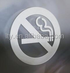 Removable No Smoking White Static Cling Decals