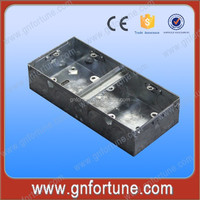 Single Gang Square Steel Switch Box Metal Knockout Box