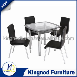 modern tempered glass dinner table