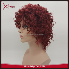 Hot Sale No Shedding Curly Full Lace Cheap Synthetic Wigs