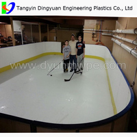 DingYuan Synthetic ice skating board/hockey board plastic/uhmwpe ice hockey rink