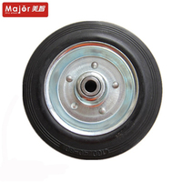 160/40-80 solid rubber hand truck wheel
