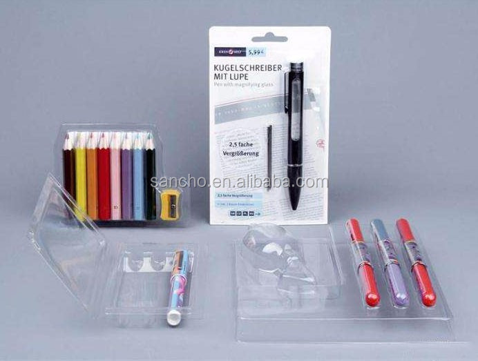 Customized vape pen blister pack for display stand