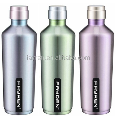 Stainless Steel Insulated Water Bottle Vacuum Flask with Steel lid