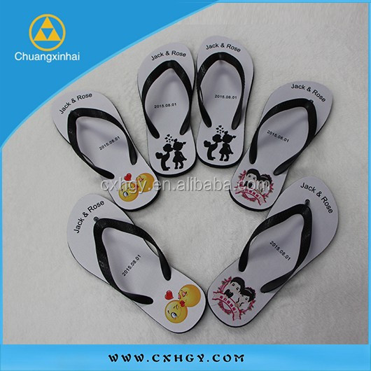 2015 High quanlity custom white wedding flip flops, wholesale flip-flops