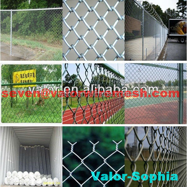 BEST SALING low price competitive high quality pvc coated painter green chain link fence