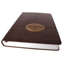 High Quality Handmade Leather Book Cover Embossing, Hot Sale Diary Leather Notebook