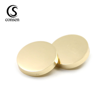 Stocking design custom gold flat shank button for coats
