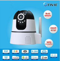 1.0 Megapixel 720P HD Pan&Tilt p2p Network mini ip Camera support 32G SD/TF card indoor wifi camera with IR cut Wps onvif2.0