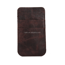 China supplier New Product genuine Leather phone pouch for iPhone 7