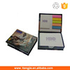 Customized memo box with sticky notes ,memo pad holder,sticky notes box