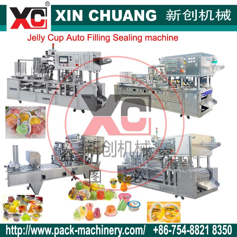 Jelly cups filling and sealing machine