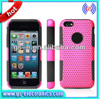 Rubberized Hybrid Matte Mesh Combo Hard Case For Iphone 5C Cheaper