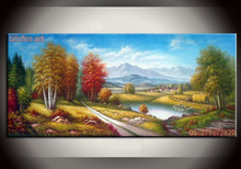 Handpainted Easy Landscape Painting handmade beautiful scenery oil painting on canvas
