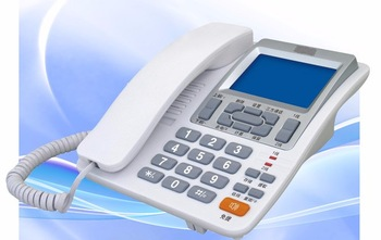 Wholesale price and high quality office telephone 2 line telephone caller ID phone for sale