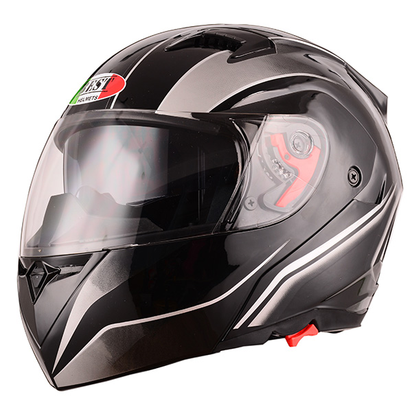 New DOT approved double visor flip up motorbike helmets with custom decals