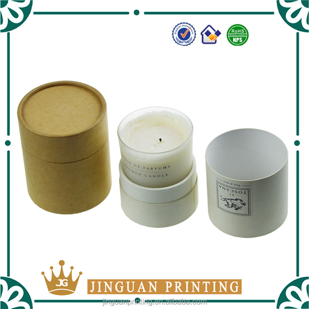 Wholesale customized printing candle packaging luxury wax paper box