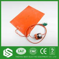 Best price 220v insulated and electric silicone rubber heater pad for heat press machine