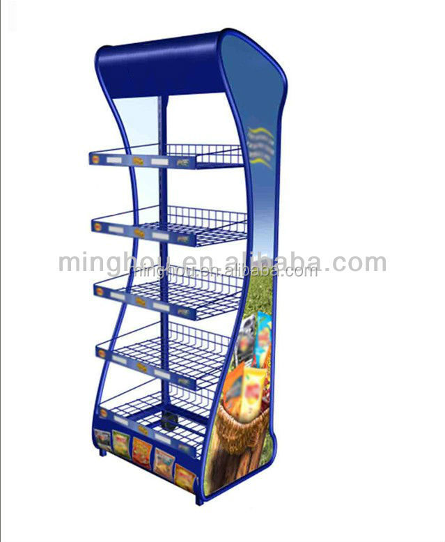 Hot sale practical metal candy display shelf