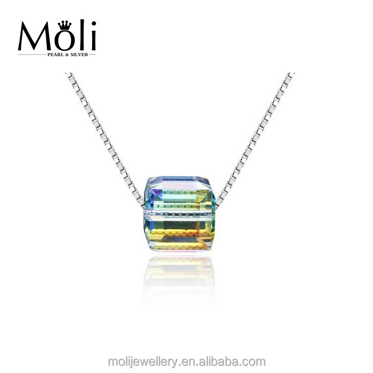 Simple Classic Popular Gemstone Pendant S925 Sterling Silver Pendant Necklace Jewelry for Best Birthday Gifts