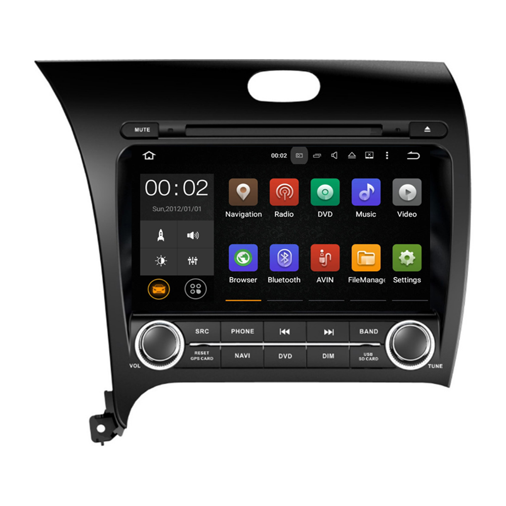 1024*600 Capacitive touch screen car audio system for Kia CERATO K3 FORTE 2013 IPOD GPS