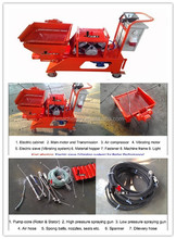 2015 hot sale semi-automatic mortar concrete spraying pump plastering machine