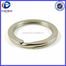 Sliver ring 30mm Key fob With Nickel Plated Round Split