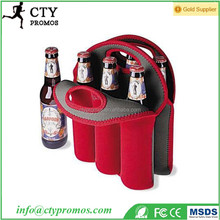 Hot Selling Insulated Neoprene 6 Pack Baby Can Carrier Beer Bottle Holder Cooler Tote Bag For Travelling