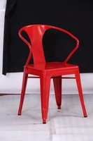 2014 New Deaign Antique Iron Dining Chair With Arm HC-F005