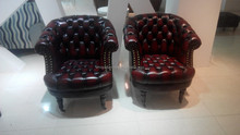 button tufted chairs