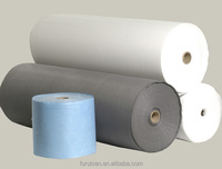 PVC synthetic leather base spunlaced nonwoven fabric