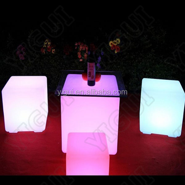 2015 hot sale solar lighting bar stools/illuminated wedding and event led bar chairs/stool
