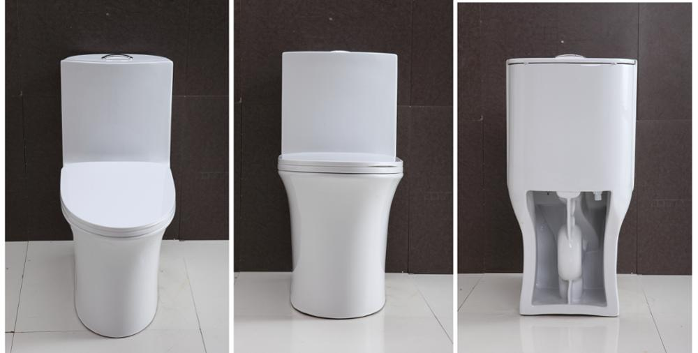 Water Saving One Piece Toilets with Double Flushing System