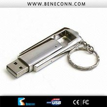 2012 top trend metal USB flash !Real capacity!red/blue