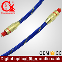 quality good support on line pay blue braided OD6.0mm 2m gold plated digital optical fiber audio cable
