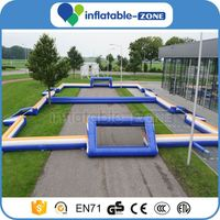 Pvc inflatable soccer field high quality human football table soccer field turf artificial turf for sale