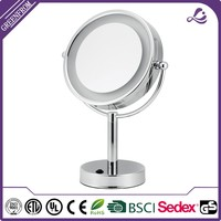 Hot selling led remington lighted makeup mirror 2015 hot sale standing cosmetic mirror