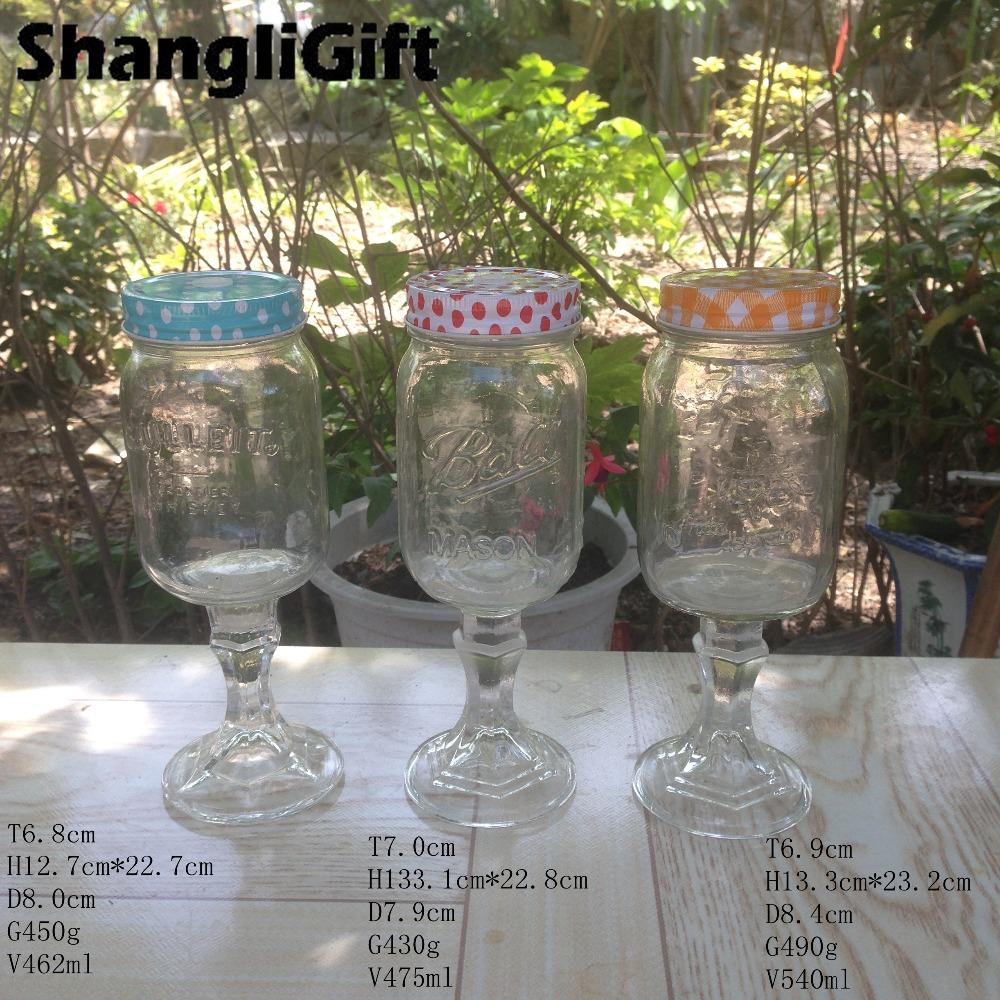 Beverage use glass mason jar with stem buy high quality mason jar with stem beverage use glass - Stemmed mason jars ...