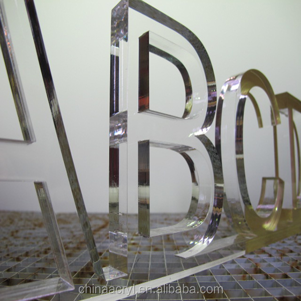 China supplier 3d plastic acrylic letters for decoration