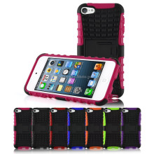 Shockproof Hybrid Dual Heavy Duty With Stand Function Case Cover for Apple iPod Touch 5, for touch 6 case