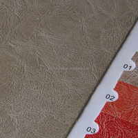 Embossed Pattern PU Leather/0.9mm PU Synthetic Leather For Shoes