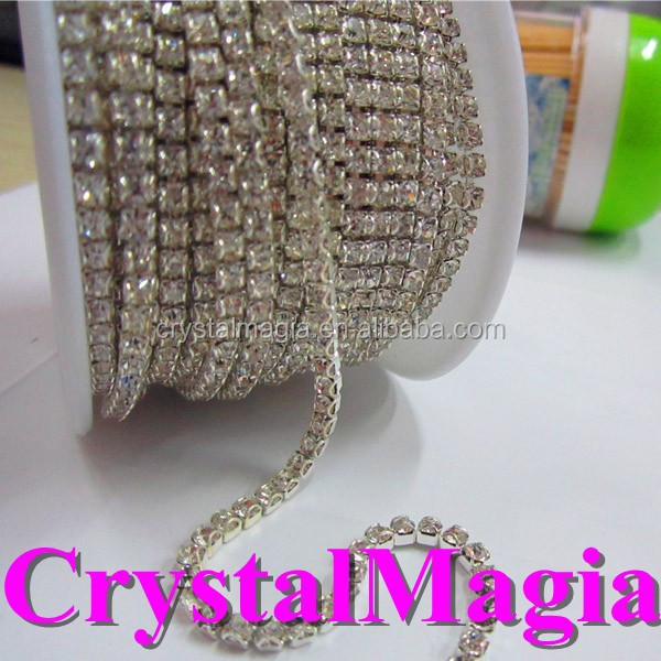 2015 sparkly crystal cup chain rhinestone sheet roll on sale