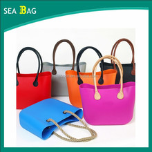 Multi-colored Fashion Silicone Shopping Bag Rubber Beach Bag
