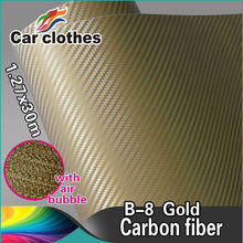 Rohs certificate 1.52*30m air free bubbles 3m 3D Carbon Fiber Car Color Changing Vinyl Sticker Supplier