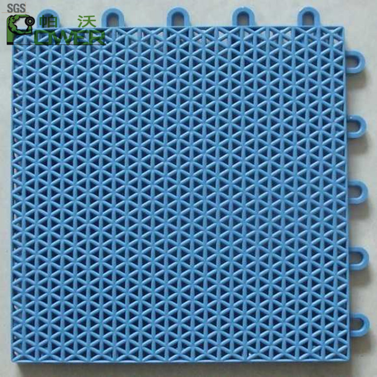 outdoor basketball court PP interlocking assembly plastic flooring