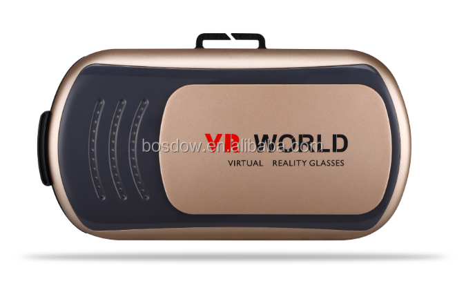 Upgraded 2.0 All in one Vr Box 3D Virtual Reality Vr Headset with Headset and oem remote [BS-VR018]